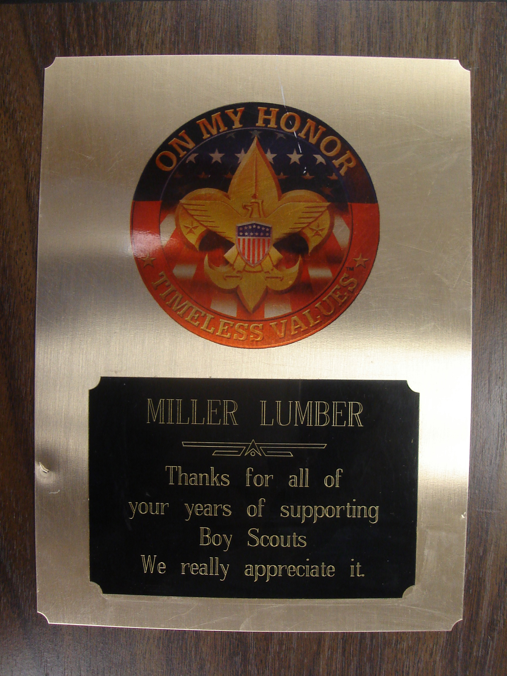 Miller Lumber also supports individuals in scouts by sponsoring activities such as Eagle Projects